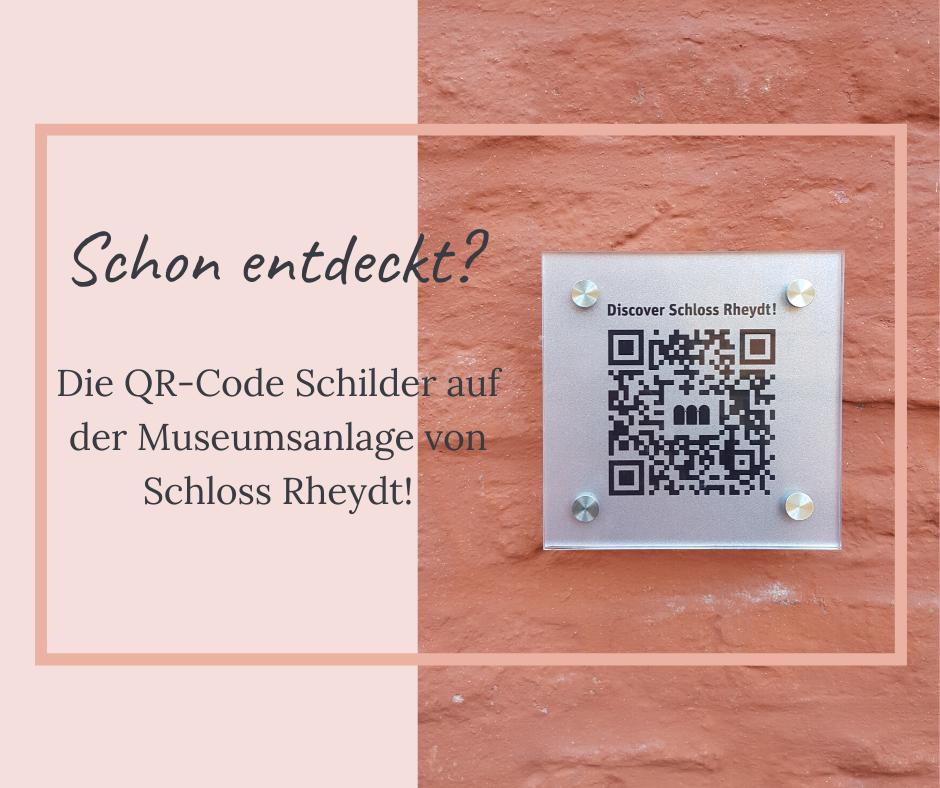 QR-Code Schilder auf Schloss Rheydt